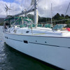 """Beneteau 411 """"Ambition"""" hailing form Montreal QC with Marine Kinetix MK4+ helping out with power in paradise."""