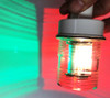 Tri-Mode installed in typical anchor light showing typical color separation and intensity.  Fixture not included.