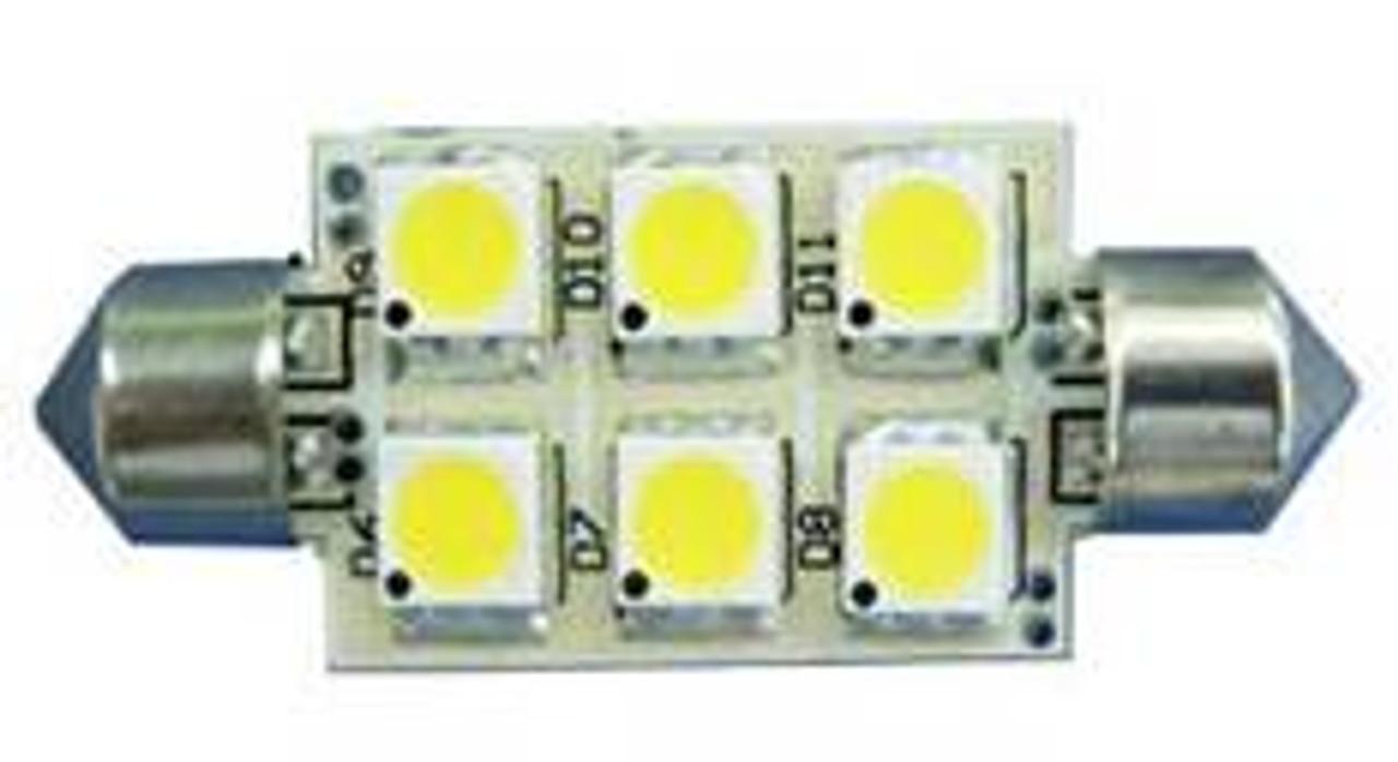 """42mm (1-11/16"""") Festoon LED Bulb 6-LED Power Cluster"""