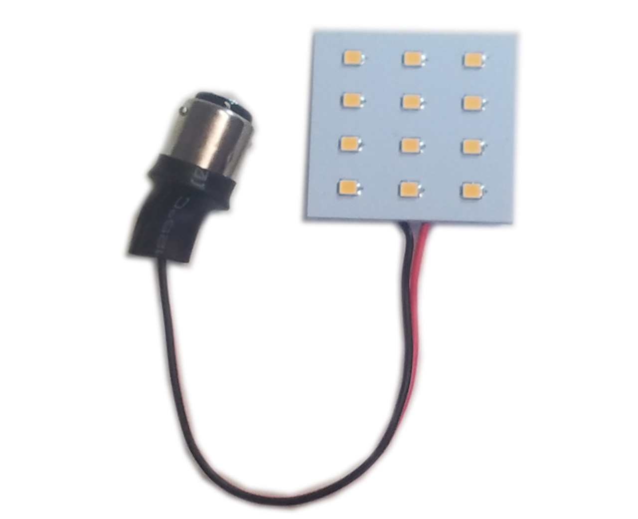 BA15S / BA15D 12-LED Replacement for Dome Lights - Replaces PL1004, 1141, 1142, 1156