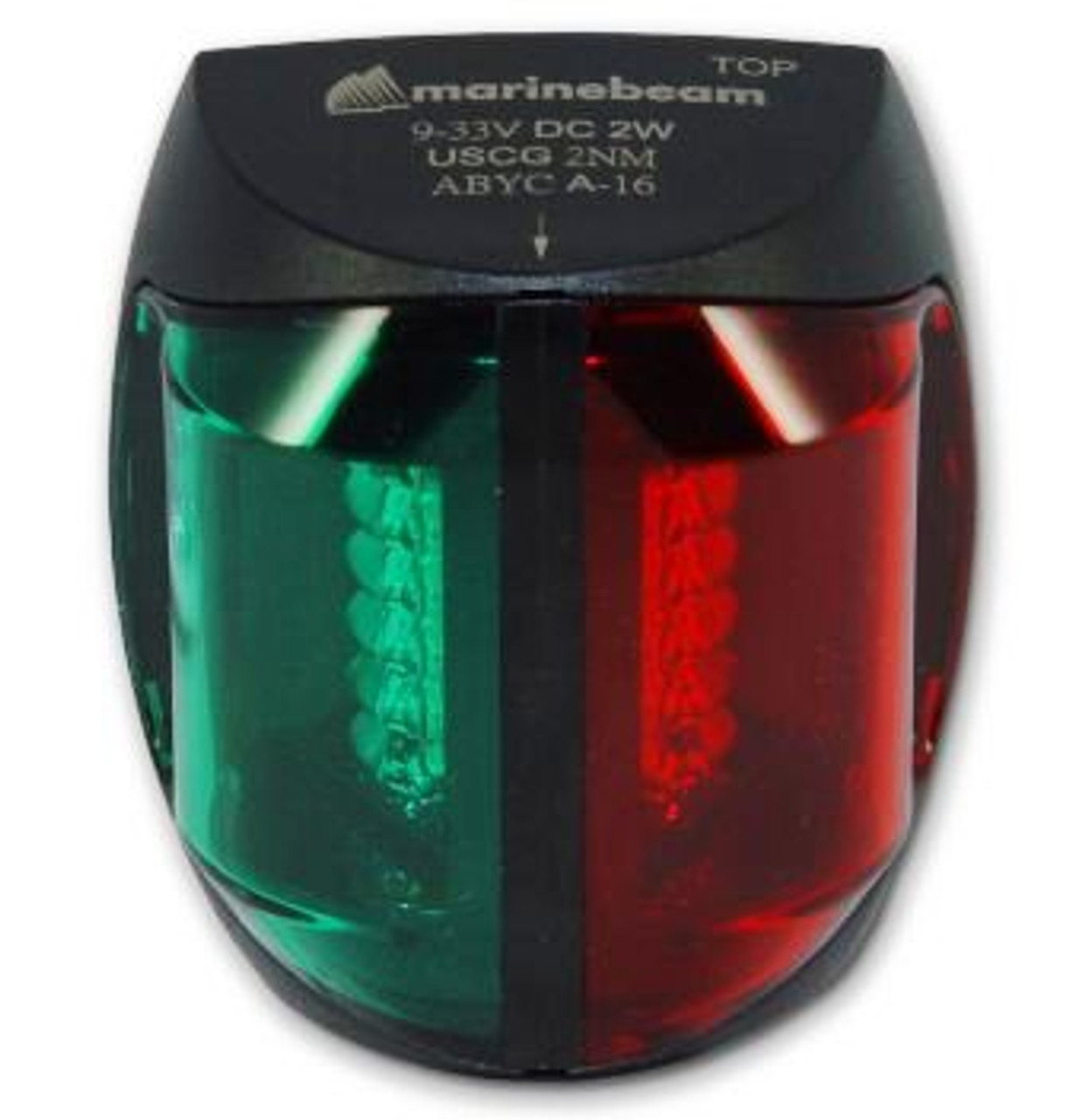 LED Bi-Color Bow Navigation Light - Black Hsg