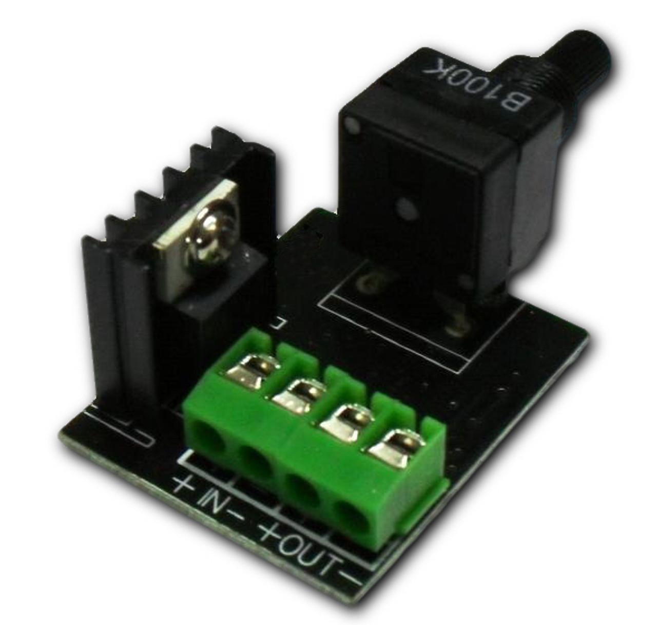 12VDC Rotary PWM LED Dimmer (DM-RT-72)