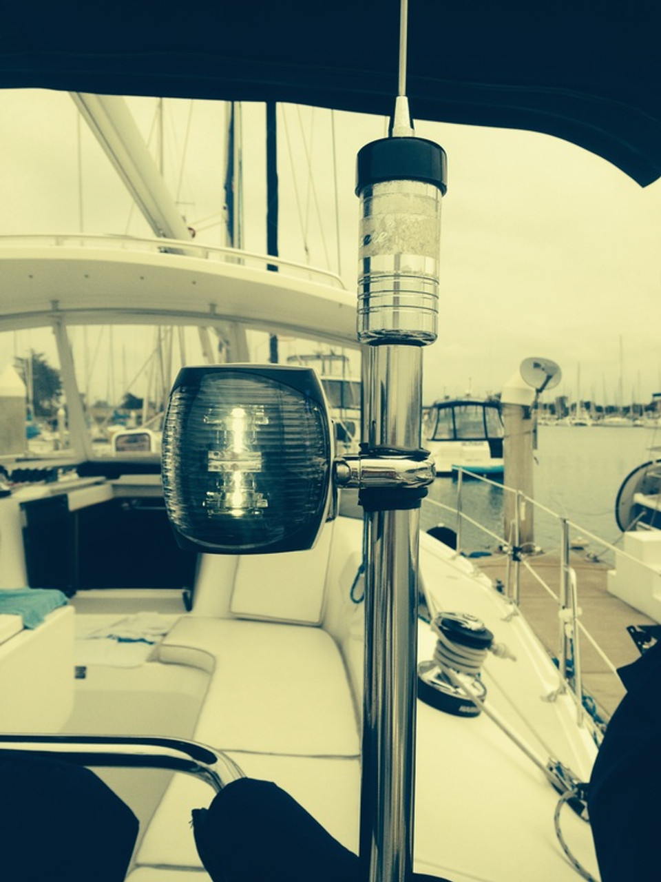 Marine Boat Yacht Mini Masthead//Stern Navigation LED Light White 12V 2NM