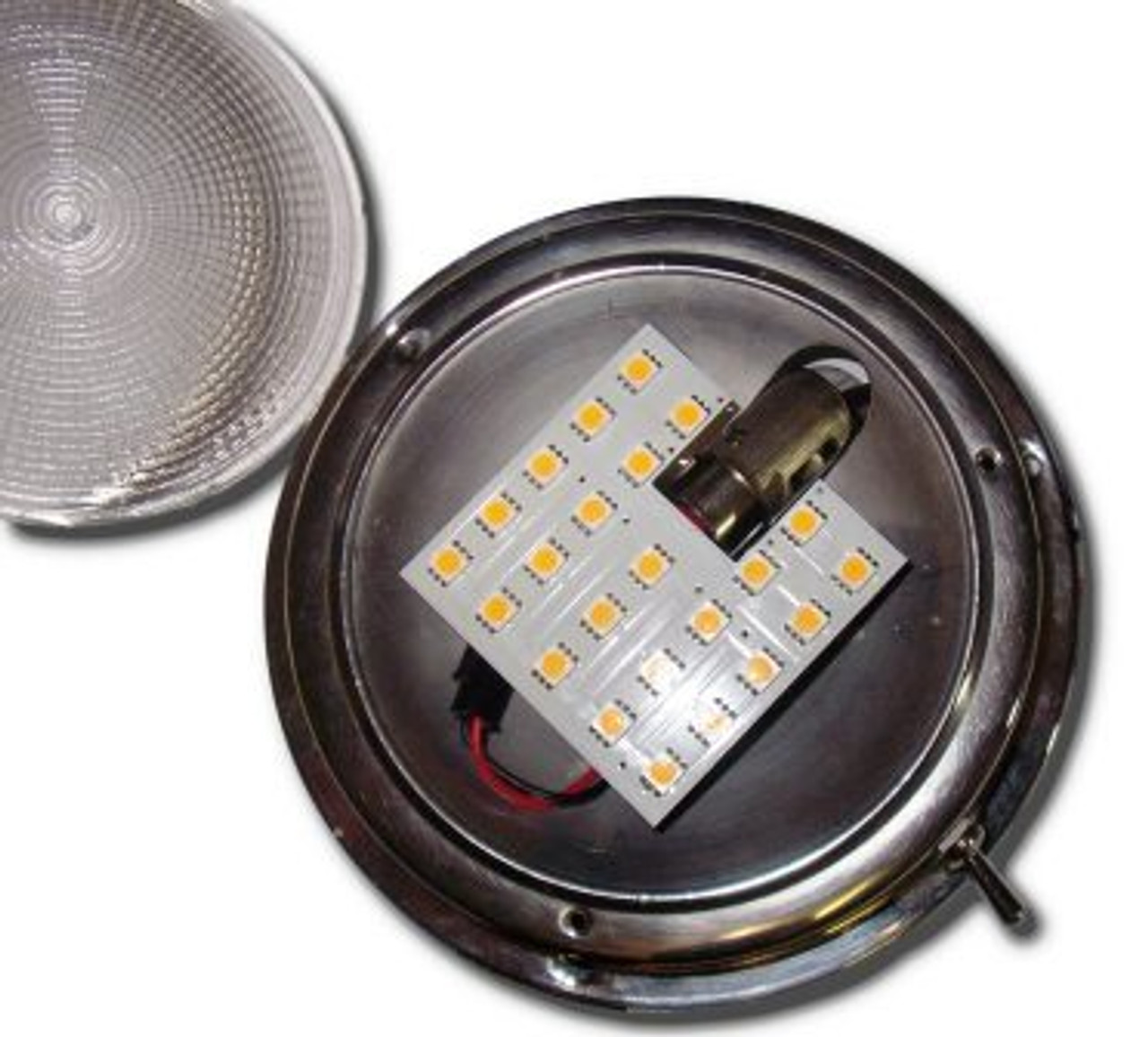 Fits round and square domelights