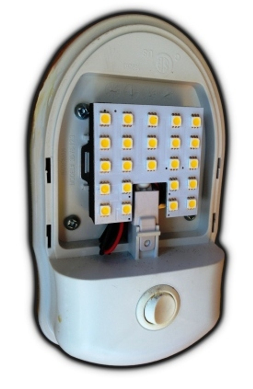 RV type fixture with 23-LED dome light replacement bulb
