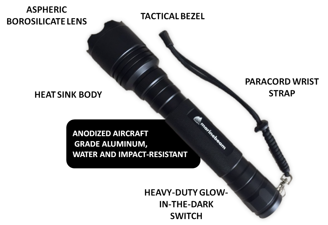 Marinebeam Ultra Long Range LED Illuminator Flashlight