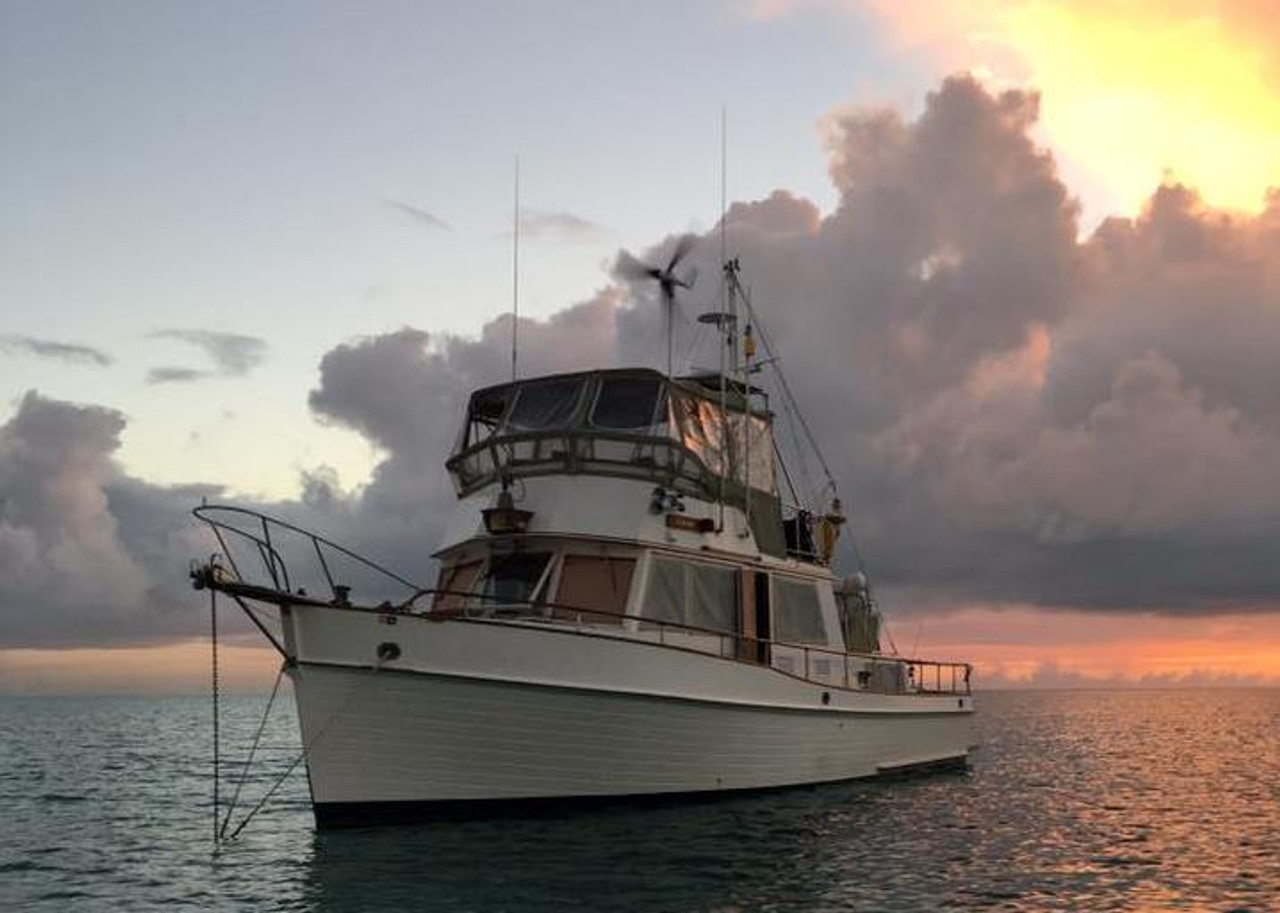 "MK4+ Wind Generator mounted on the Grand Banks 42 Trawler ""Cabana"" in the Bahamas"