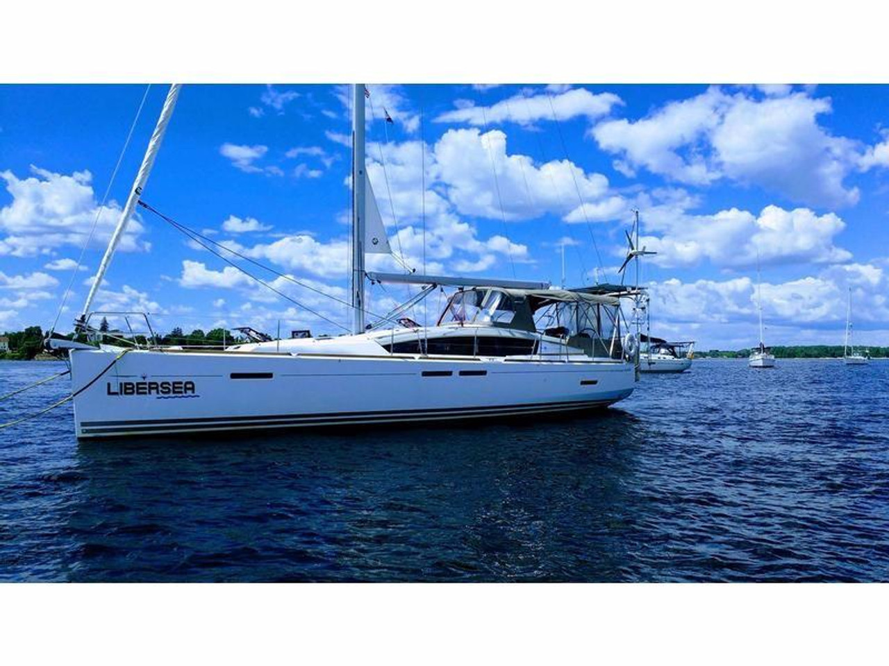 S/V Libersea, a 2012 Jeanneau 44DS equipped with a Marine Kinetix Wind Generator