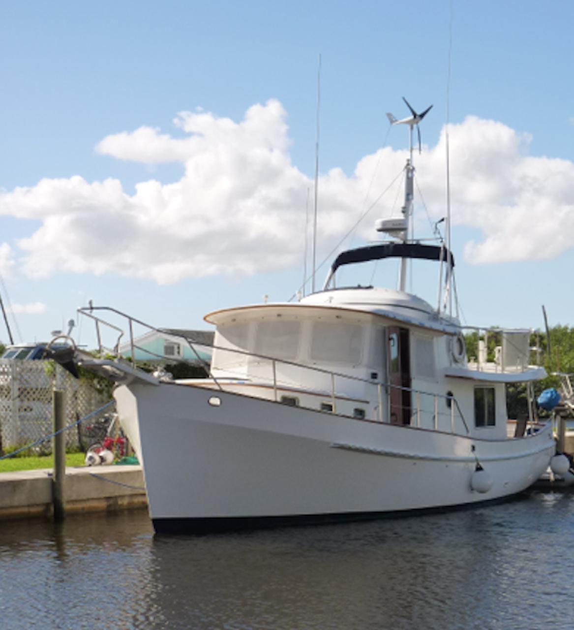 Marine Kinetix custom mounted on a trawler (Dov Lazar in the Bahamas)