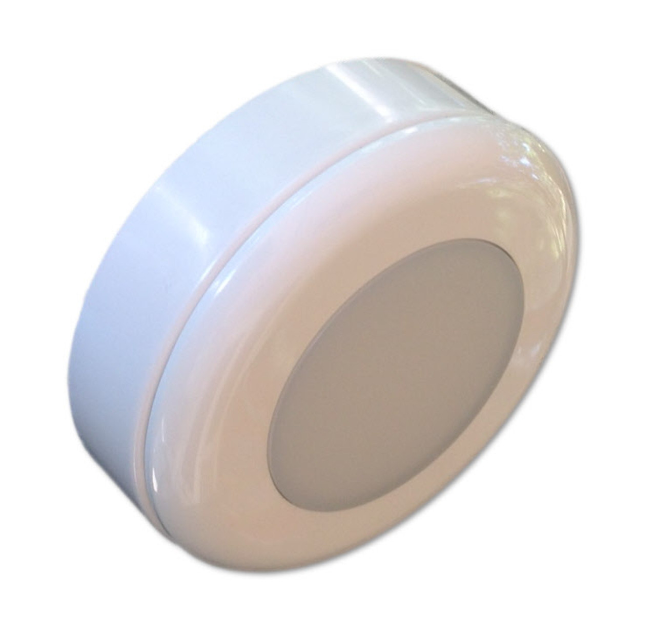 Converts easily to surface mount puck light with included spacer