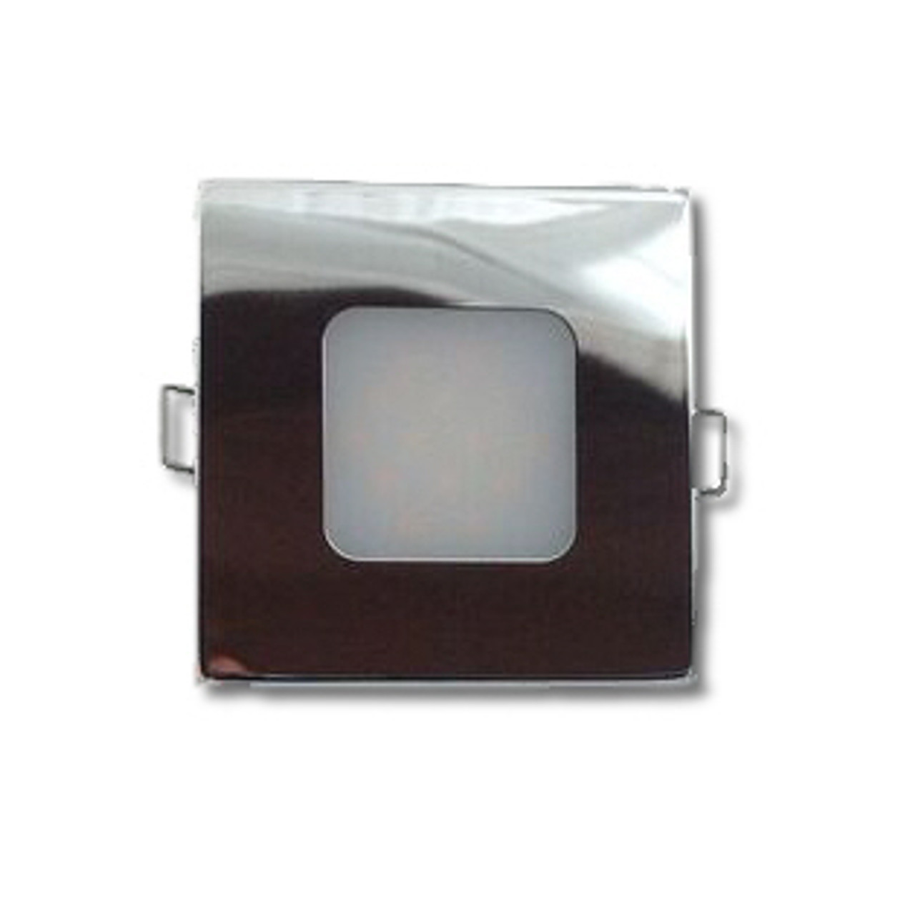 Square LED Boat Light Fixture - Stainless Steel