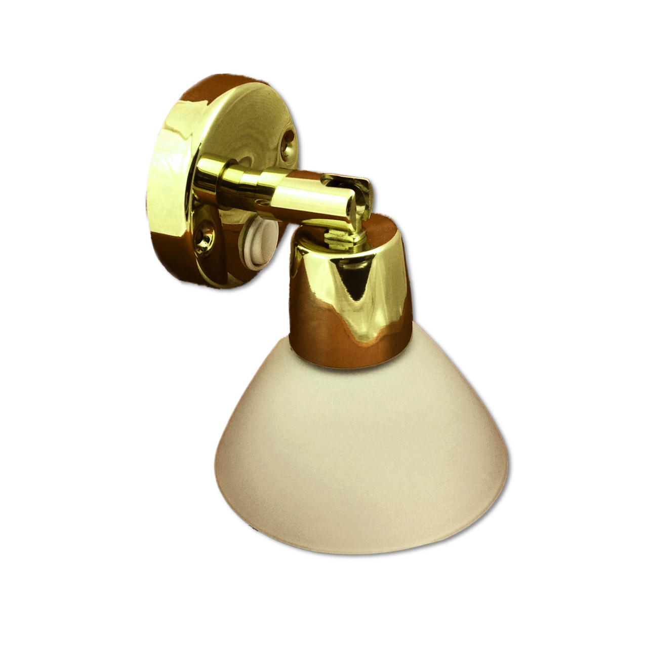 Polished Lacquered Brass LED Reading Light