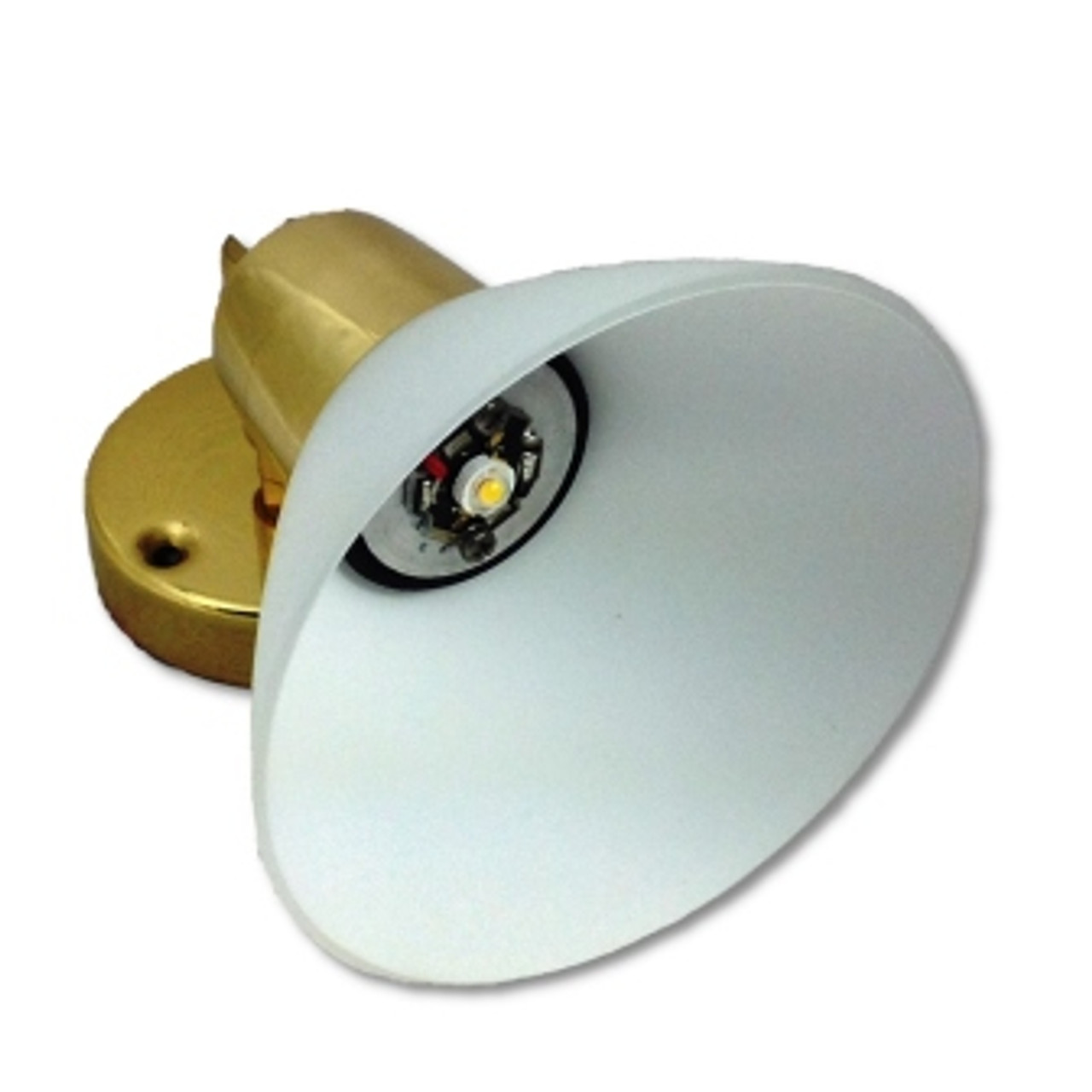 LED Reading Light with Frosted Glass Shade