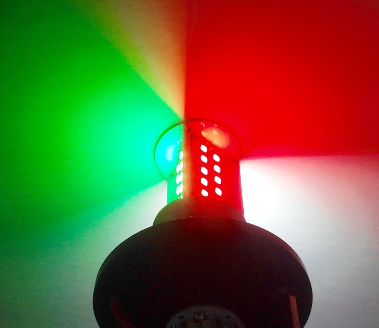 LED Tri-Color with distinct sector separation using panels