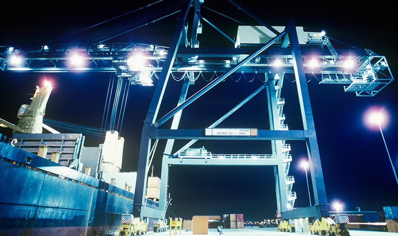 Shipping terminals, docks, etc.