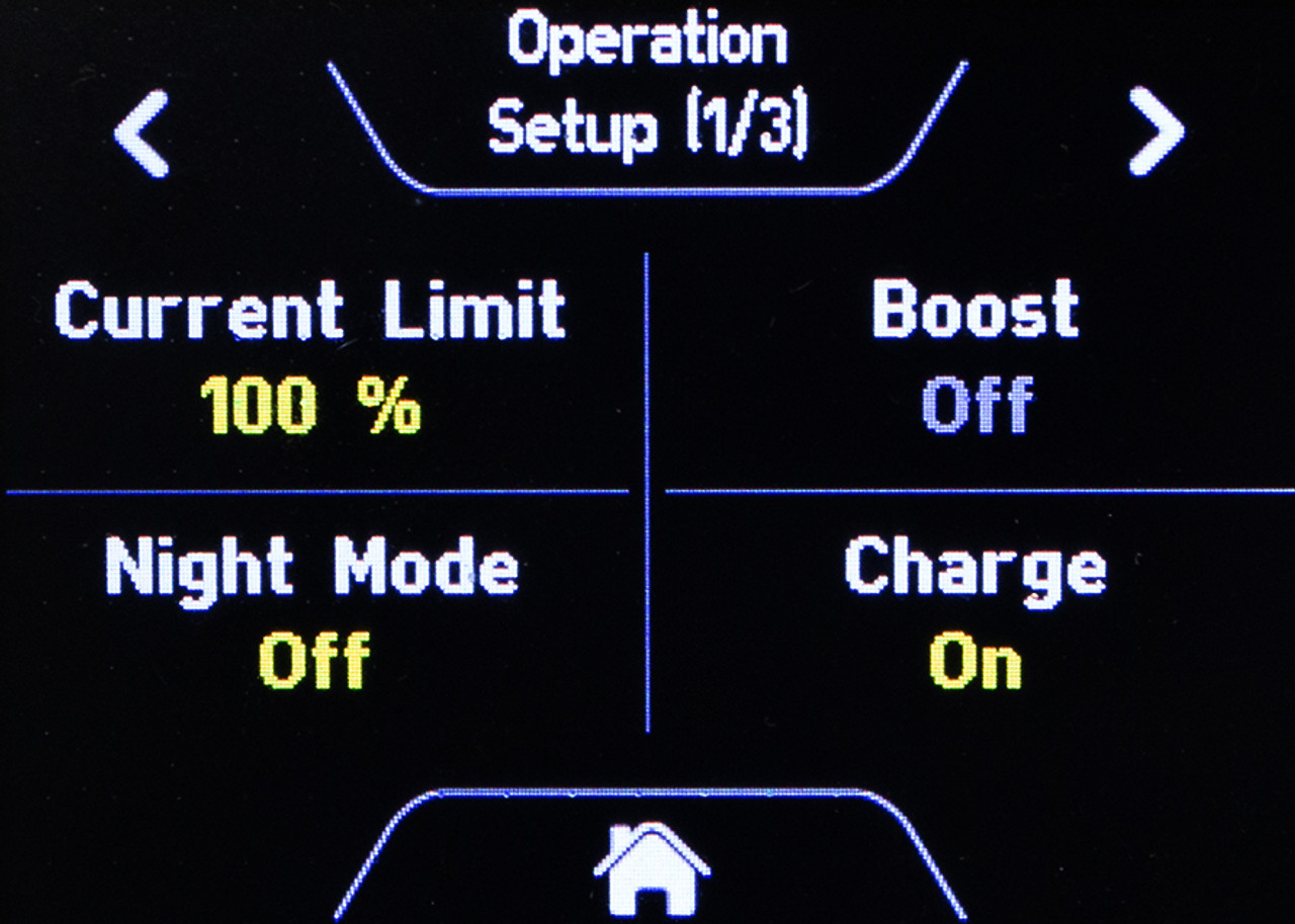 Example Setup Screen