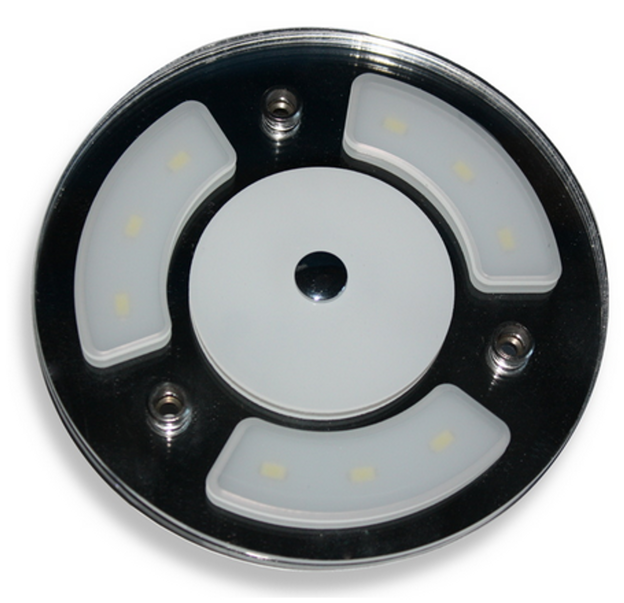 """Round 4"""" Touch Lamp with Dimming and blue night-light"""
