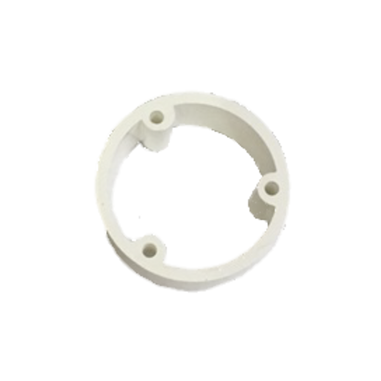 Included spacer adapter for flat mount
