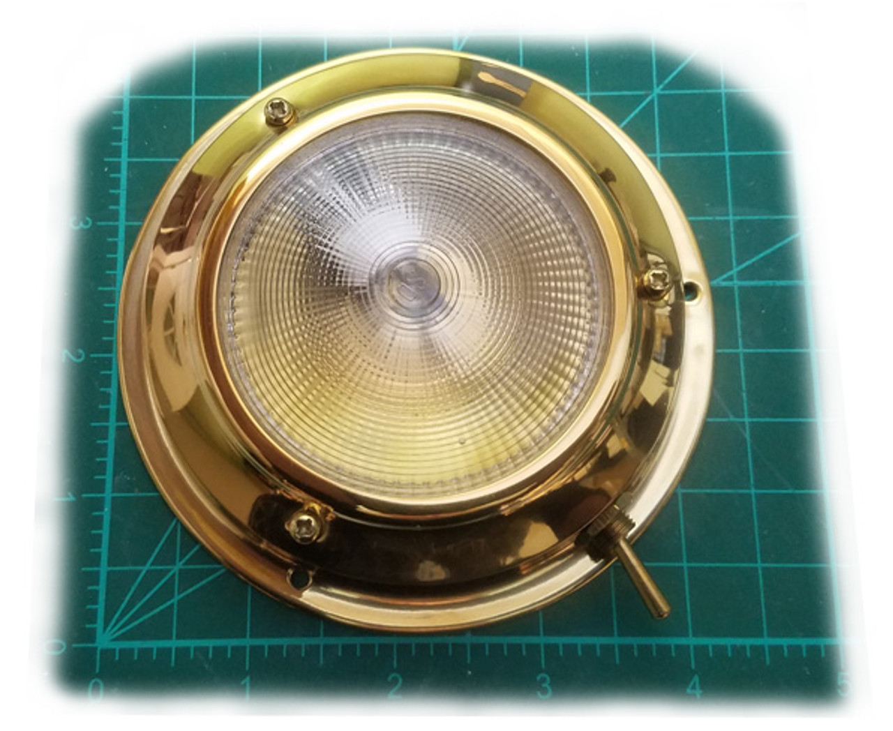 "4.25"" Stainless Steel or Titanium Nitride Brass G4 Dome Light (FX-425-G4)"