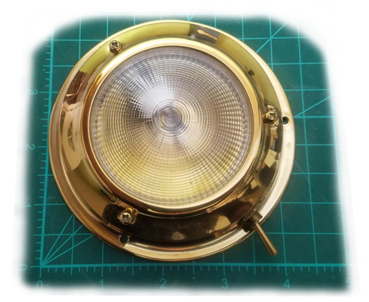 "4.25"" Stainless Steel or Titanium Nitride Brass G4 Dome Light (FX-425-G4)"