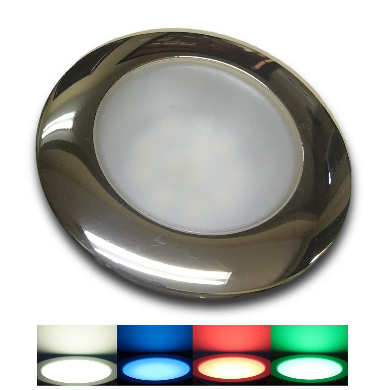 Recessed Color Changing LED Cockpit Light   W - B - R - G