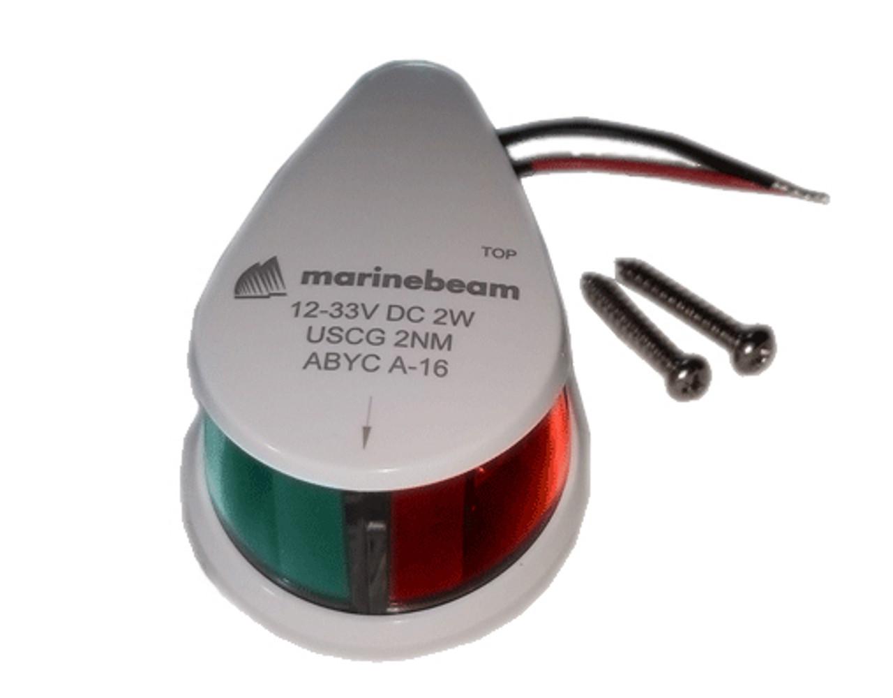 Red Green LED Navigation Running Light Horizontal Mount 12V/24V
