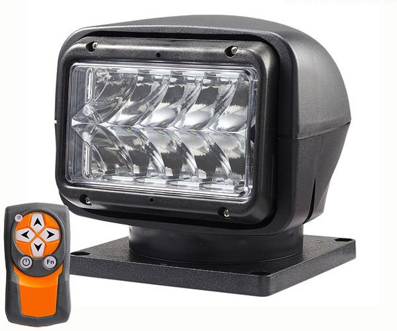 Long Range Spot Light in Black with handheld wireless remote
