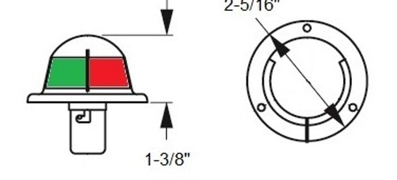 Stainless Steel Bi-Color LED Bow Light | Horizontal Mount
