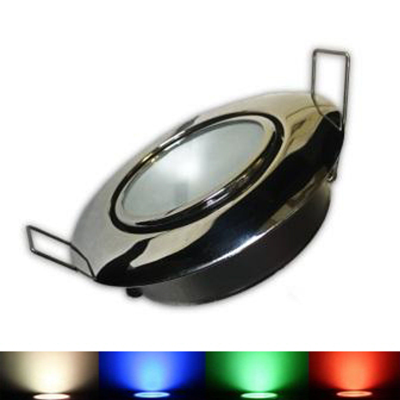 RGBW LED Downlight for boats.  Red, Green, Blue, White