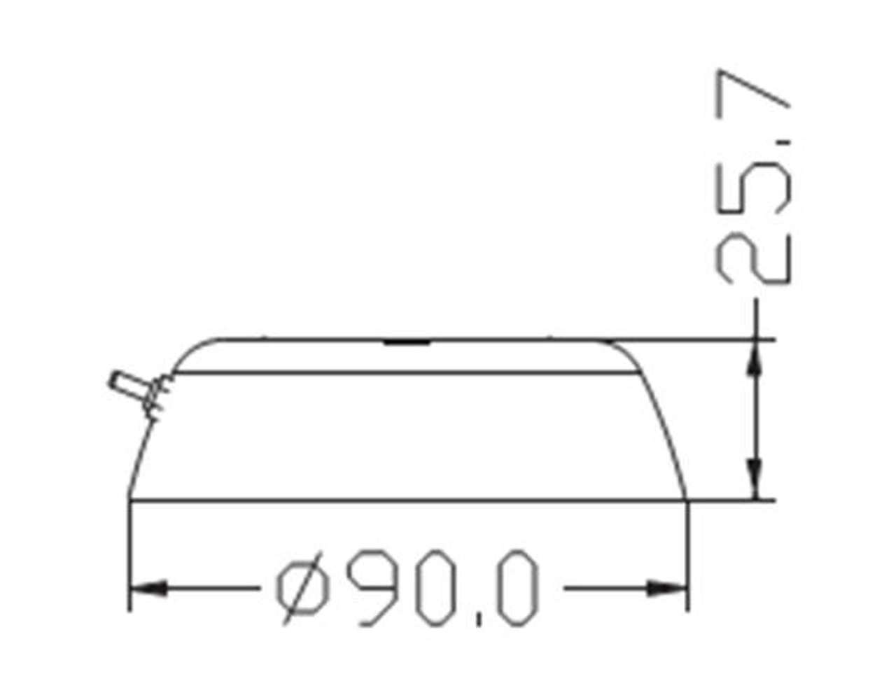 LED  Dome Light Dimensions