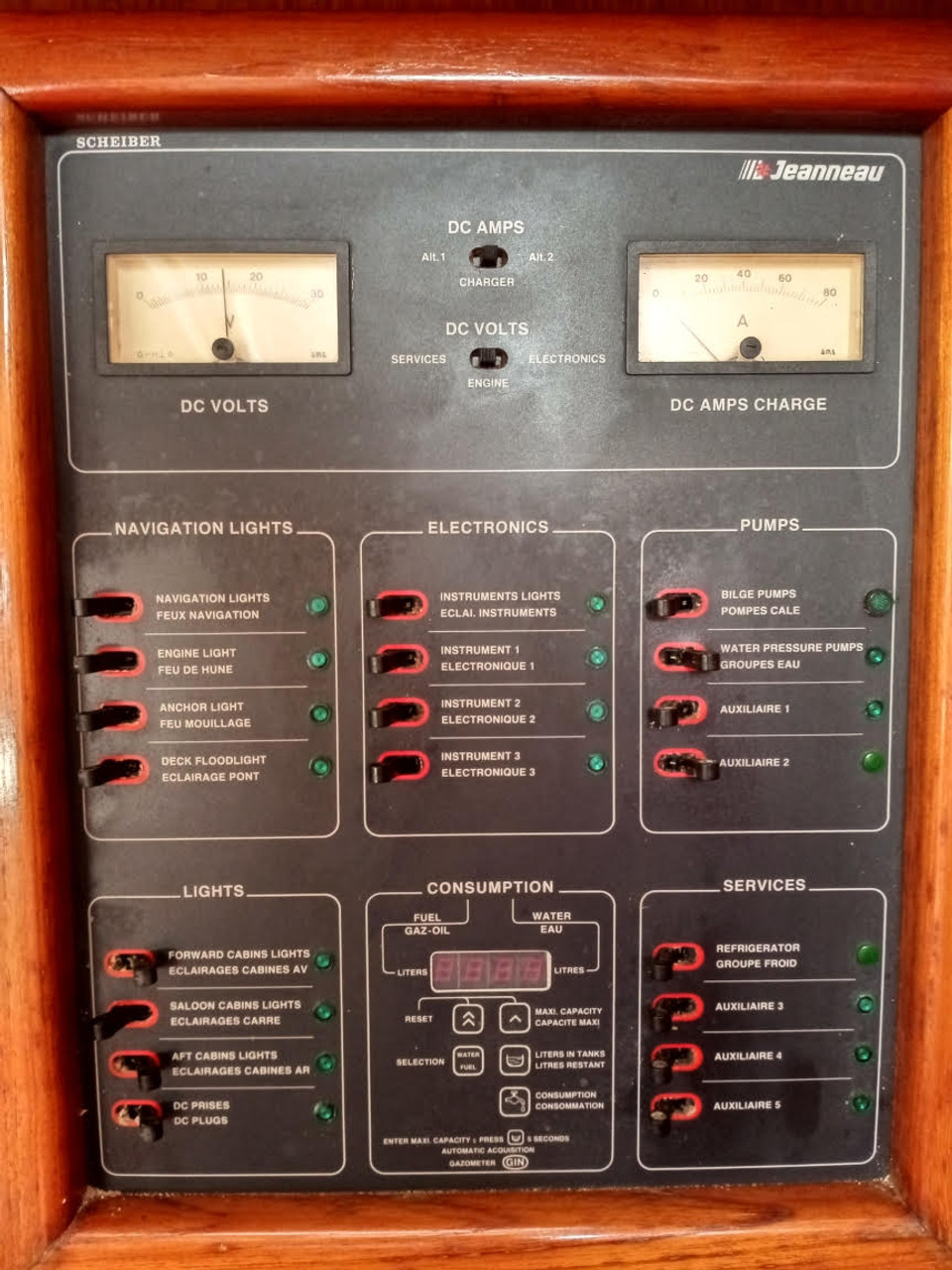 As used in complete Scheiber electrical panel