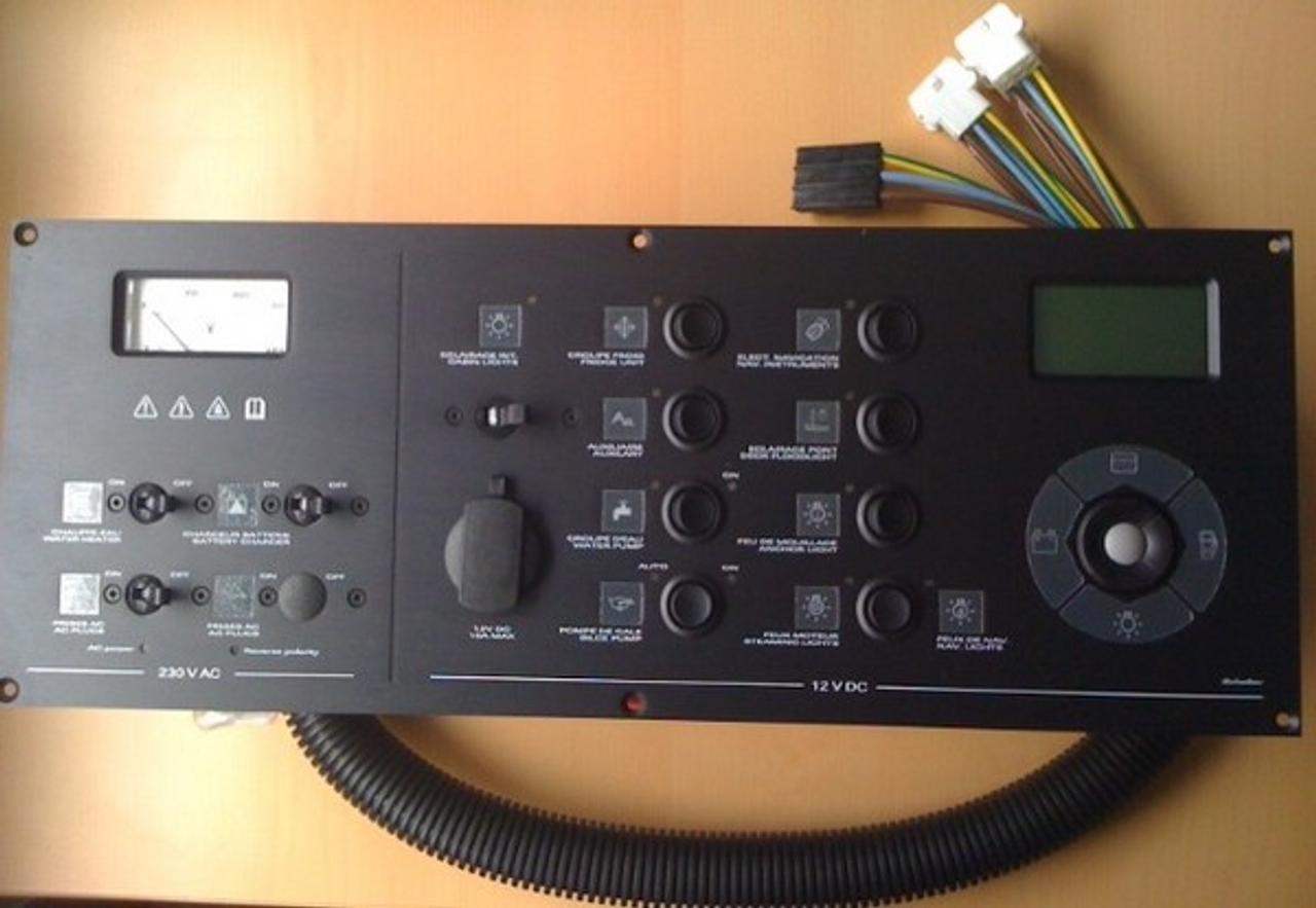 Scheiber AC/DC Circuit Panel and Tank Monitor Gauge