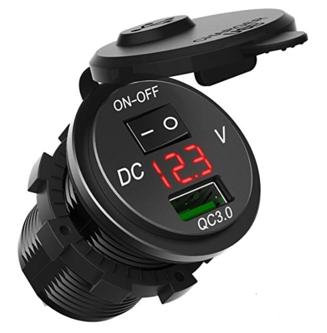 5 Volts DC Output Panel Mount 12 Volt Dual Port USB Power Charger for Boats
