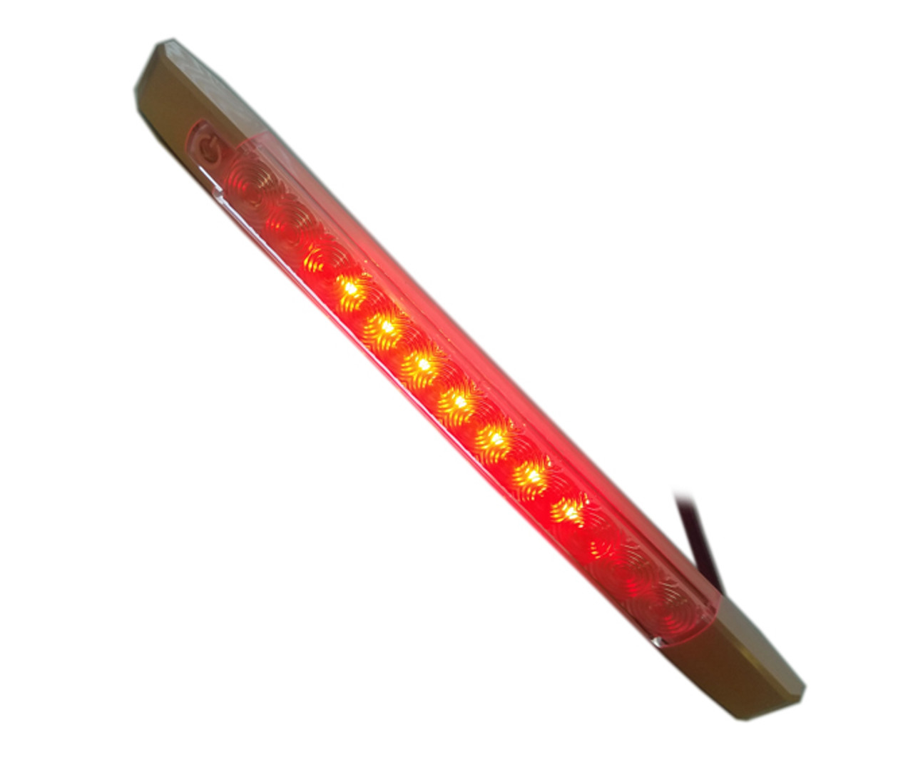 "12"" Surface Mount Red / White LED Fixture w/ Touch Switch"