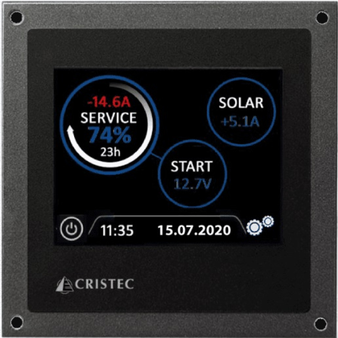 "3.5"" Touch Screen for Cristec Battery Monitor System with 300A Shunt"