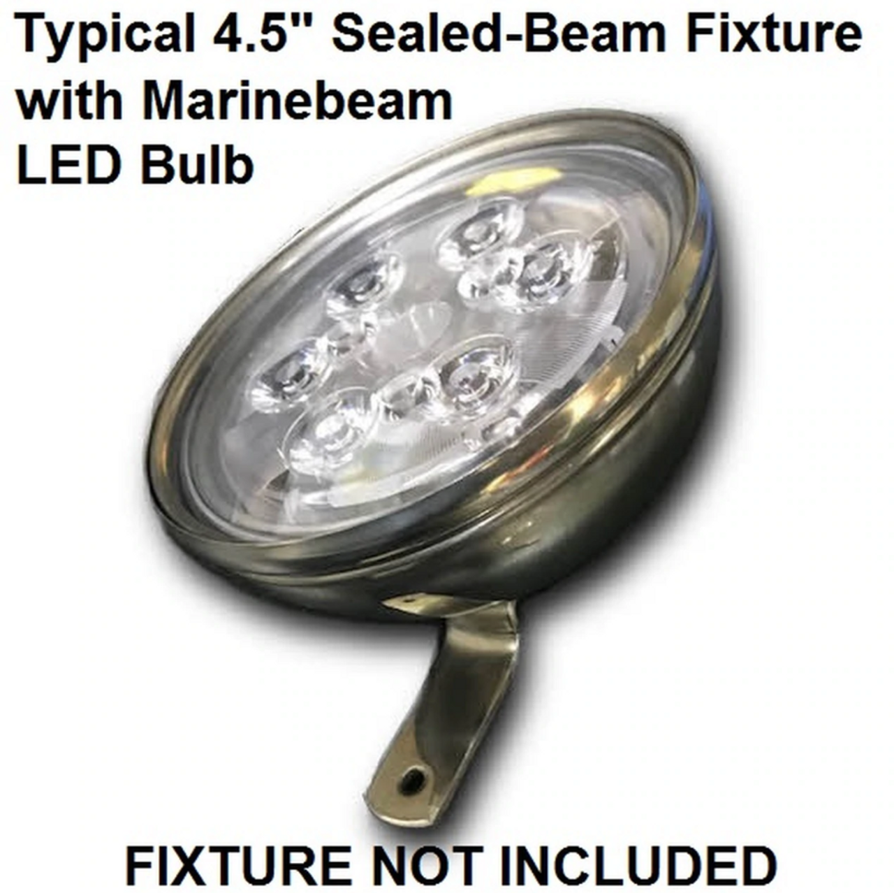 Stainless Steel Spreader Light Fixture (not included) with Marinebeam PAR36 Bulb