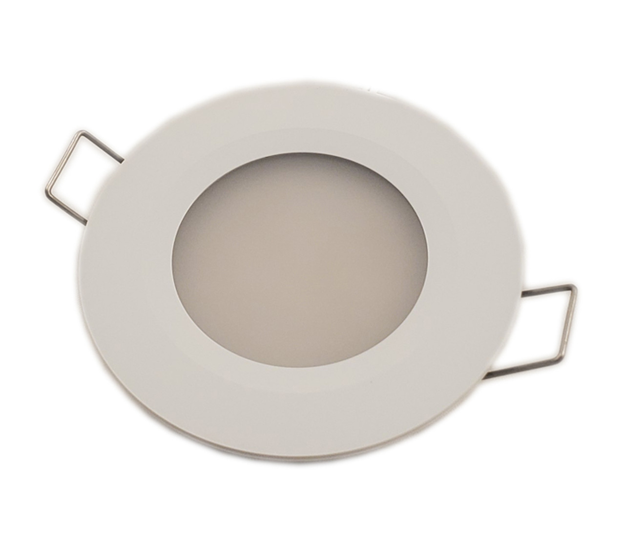 White Powder Coat Recessed Downlight for Cockpit and Boat Cabin