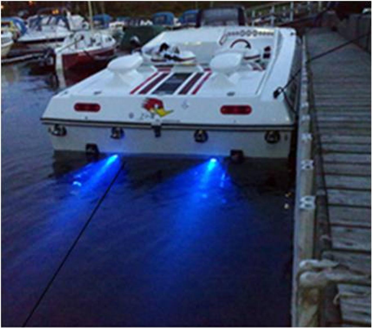 18W, 6-LED Underwater Light for Boat   Salt Water Use