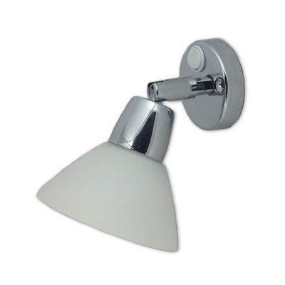 Polished Bright Chrome Finish LED Reading Light