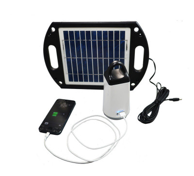 Portable Solar LED Lantern and USB Power Station