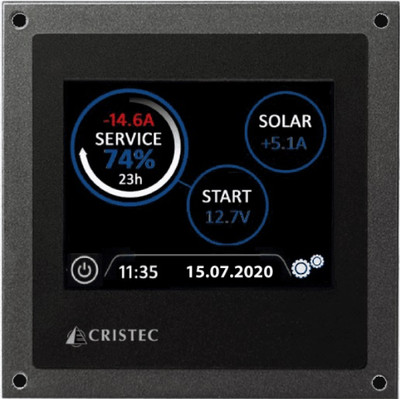 """3.5"""" Touch Screen for Cristec Battery Monitor System with 300A Shunt"""