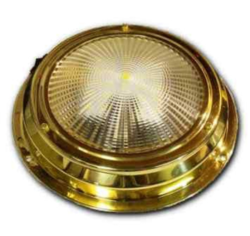 "6.5"" LED Dome Light - Stainless Steel or Traditional Brass"