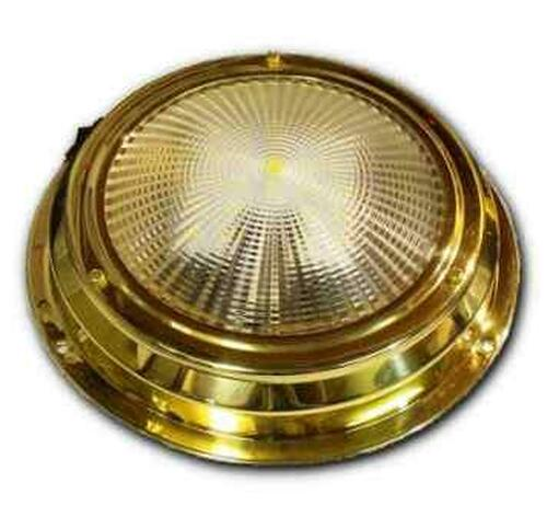 """6.5"""" LED Dome Light - Stainless Steel or Traditional Brass"""