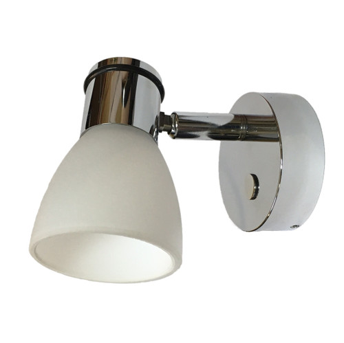 LED Bulkhead Reading Light with Touch Dimming and Chrome Finish