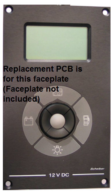 Replacement Tank Monitor Scheiber shown with face plate (not included)