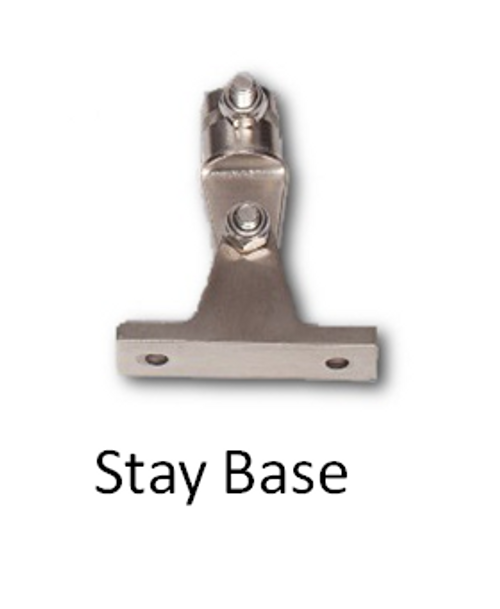 Wind generator support stay base