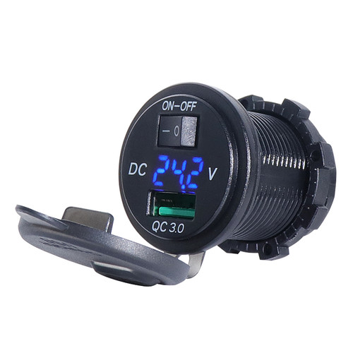 12V or 24V input - Blue LED type shown