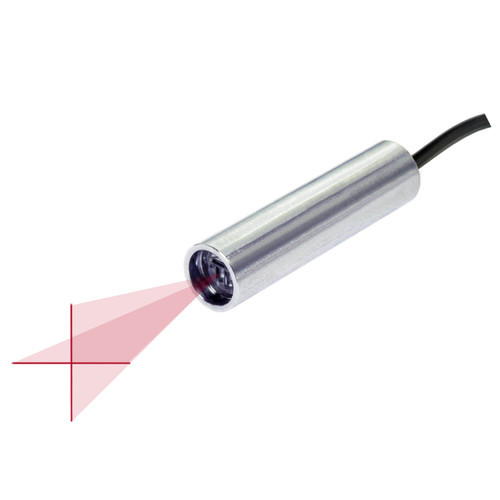 Quarton VLM-635-59 LPO-D30 & VLM-635-59 LPT-D30 Red Crosshair Laser Module with TTL Function Fan Angle 30° Uniform Line, Wavelength: 635nm