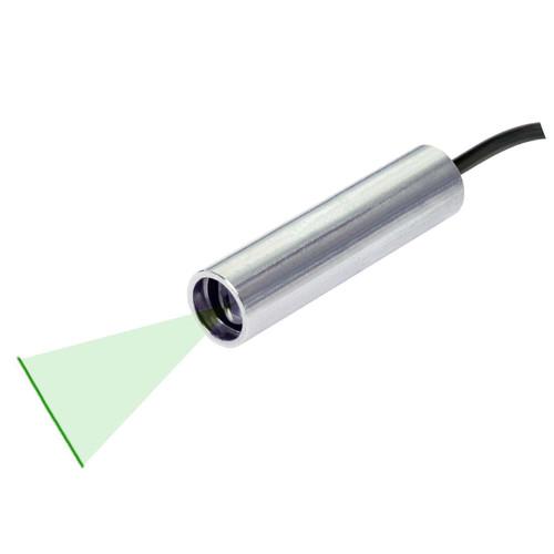 Quarton VLM-520-57 LPO-D30 & VLM-520-57 LPT-D30 Green Line Laser Module with TTL Function Fan Angle 30° Uniform Line, Wavelength: 520nm