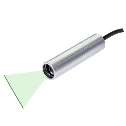 Quarton VLM-520-57 LPO-D45 & VLM-520-57 LPT-D45 Green Line Laser Module with TTL Function Fan Angle 45° Uniform Line, Wavelength: 520nm